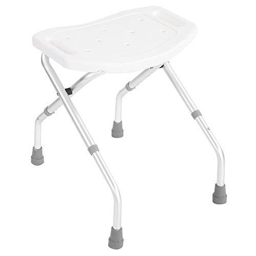 Folding Bath Shower Seat Bathroom Chair Disability Aid Stool Suction Style Feet Stable Portable Stool