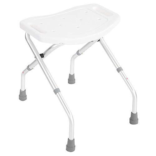 Badkruk en stoelen, in hoogte verstelbare douchestoel opvouwbare badkamer invaliditeit hulp Kruk zuignap stijl Stabiele voeten