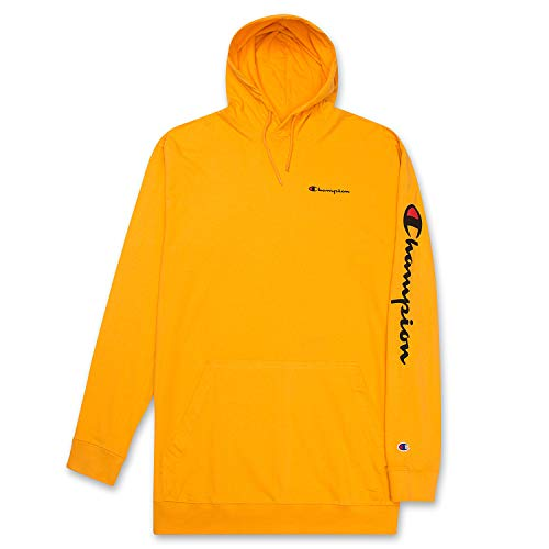 Champion Mens Big and Tall Long Sleeve Pullover Jersey Lightweight Hoodie Gold