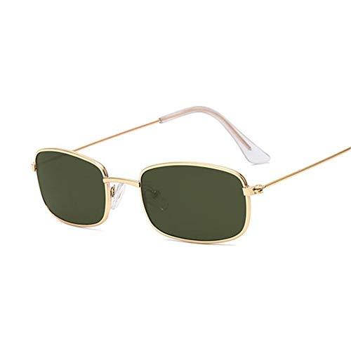 UKKD Gafas De Sol Mujeres Rectángulo Gafas De Sol Hombres Mujeres Gafas De Sol Masculina Femenina Moda Verano-Goldg15