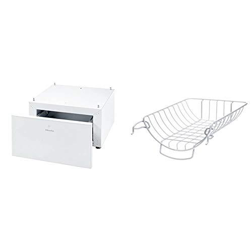 Miele WTS510 Sockel Trocknerzubehör/Unterbausockel mit Schublade für Waschmaschinen und Trockner/Höhe: 35 cm & TRK555 Trocknerkorb