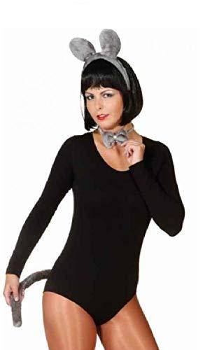 narrenkiste O43810 - Disfraz de ratn para mujer, color gris