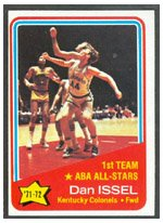 1972 Topps Regular (Basketball) Card# 249 Dan Issel AS of the Kentucky Colonels Ex Condition