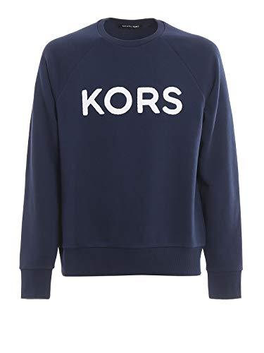 Michael Kors Sweatshirt Frottee Mitternachtsblau Gr. Large, blau