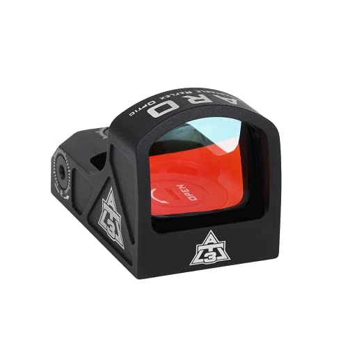 AT3 Tactical ARO Micro Red Dot Sight - Pistol Mount, Low Mount, Optional Riser Mount - 3 MOA Compact Reflex Sight