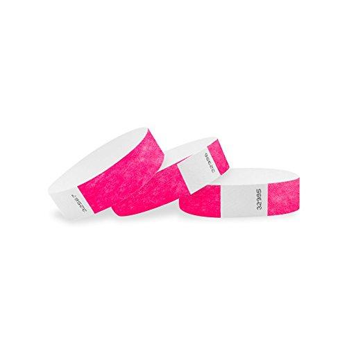 Wristco neon rosa 3/10,2cm Clubking Ltd 2500 Count Neon Pink