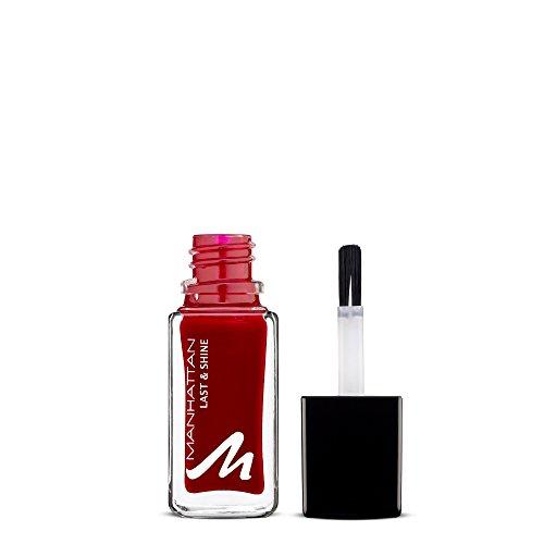 Manhattan Last & Shine Nagellack – Warmroter, glänzender Nail Polish für 10 Tage perfekten Halt – Farbe Your Favorite 680 – 1 x 10ml