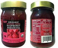 Trader Joe's Organic Raspberry Ranking New York Mall TOP18 Preserves Sugar oz 15.2 Reduced