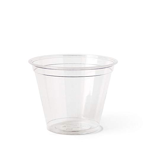 Susty Party compostable Plant-Based Clear Cold Cup, 9 oz (50 Count)