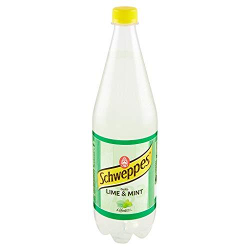 6x Schweppes Lime & Mint kohlensäurehaltiges Getränk mit Limettensaft PET 1Lt