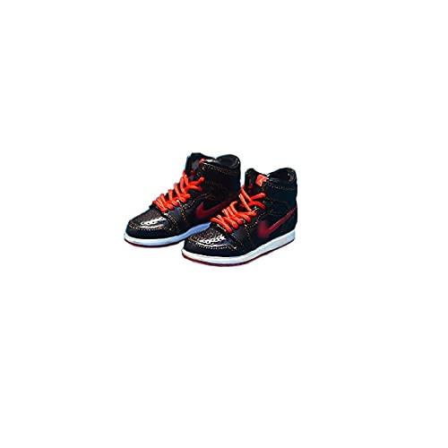ANCHANG A&J Llavero 3D Zapatillas de deporte Modelo Zapatos de baloncesto creativos Llavero Mochila de moda Mini bolso Colgante Regalo de cumpleaños 5 cm * 1,8 cm * 2 cm Estilo-34