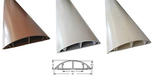 1m Fussboden Kabelkanal 120mm Breite selbstklebend, Farbe:Grau