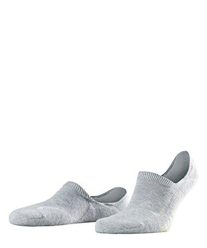 FALKE Unisex Cool Kick Invisible, - Ultraleichte Plüschsohle, Rutschfest durch Silikon im Fersenbereich ,1er pack, Grau (Light Grey 3400), 42-43 EU
