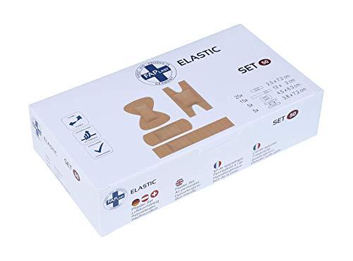 HierBeiDir Fingerpflaster-Set für Gelenk, Kuppen & Strips, elastisch, luftdurchlässig, hautfreundlich, hypoallergen, 50 Stück