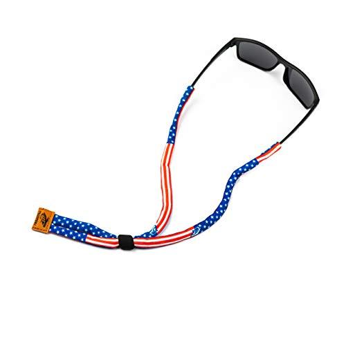 Pilotfish Premium Cotton Eyewear Retainer Sunglass Strap - Multiple Design Options - Soft & Durable Sunglass Holder (Patriot)
