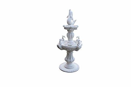 Antikes Wohndesign Steinbrunnen Springbrunnen Delphinen Brunnen Zierbrunnen Wasserspiel Gartenbrunnen Delphin