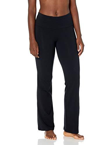 Spalding Women's Activewear Cotton Spandex Yoga Pant with Pocket, Black, M