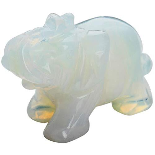 Hemistin Opal Jade Elephant Figurine Glass Figurine Craft Ornament
