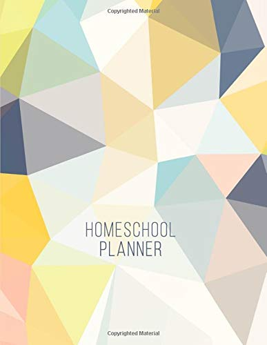 Homeschool Planner: Daily Assignment Tracker and Record Book For One Student | Academic Calendar Year | Minimalist Abstract Pattern (Homeschooling Family Organizer)