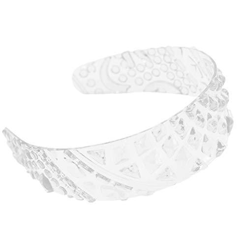S-TROUBLE Diadema de plástico Transparente de Verano para Mujer, Linda piña 3D con Textura, Bandana Ancha, Lavado de Cara, Viaje, Estilo de Vacaciones, Diadema