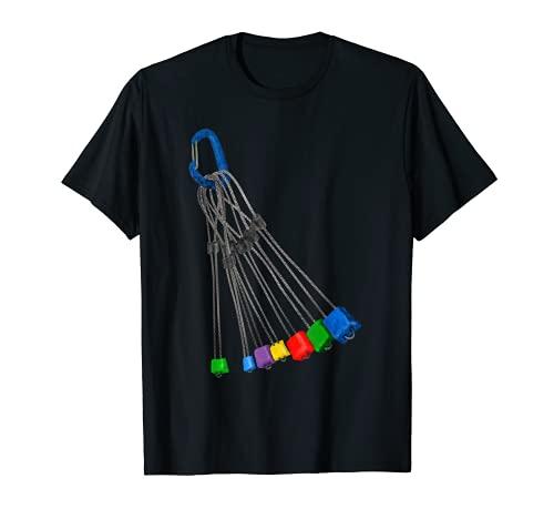 Rack mit Kletterdrähten T-Shirt