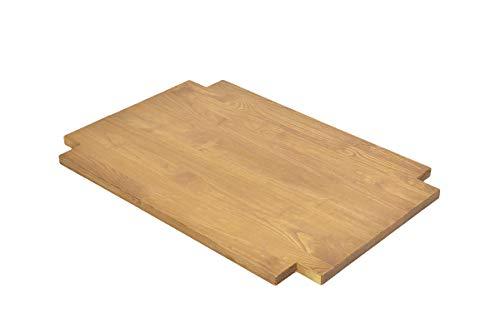 Preisvergleich Produktbild Naturholzmöbel Seidel Ablage Zwischenboden für Hoch,  ESS- und Couchtisch Rio Bonito 90x50cm,  Pinie massiv geölt und gewachst,  Farbton Honig hell