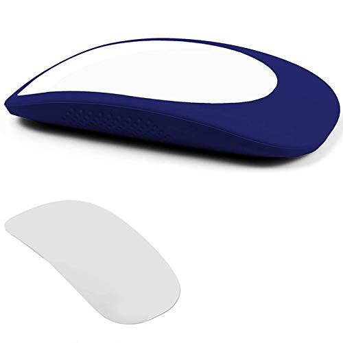 Huante Manchon élastique pour Magic Mouse 1 et 2, coque de protection anti-rayures en silicone (bleu)