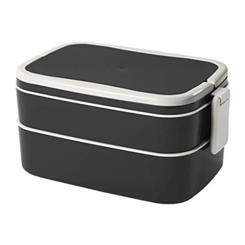 IKEA Flottig Lunch Box Black White 202.948.60 Size 8 ¼x5x4