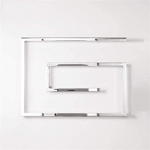 Toallero Eléctrico Toalla eléctrica de acero inoxidable, calentador de toallas eléctricas, barra de toalla eléctrica termostática, 800 × 600 × 115mm Toalla de tela montada en la pared Rack de secado