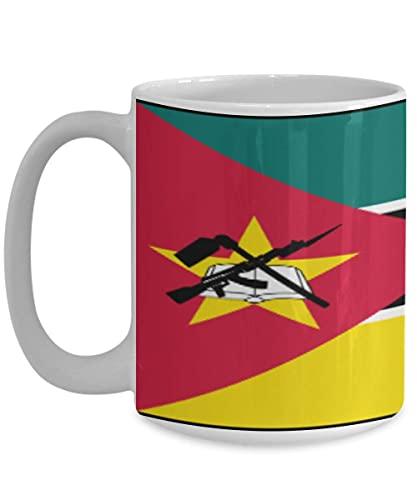 N\A Mosambik Flagge weiße Kaffeetasse Teetasse Country Native Pride