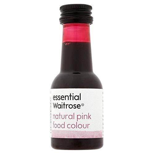 Naturale Rosa Colorante Alimentare Waitrose Essenziale 38Ml