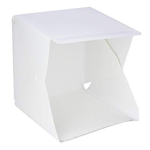 AYNEFY Fotostudio met gekleurd doek, minibox, opvouwbaar, LED, studio, fotografie, tent, box, verlichting met 6 achtergronden