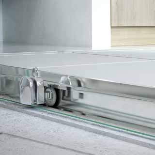 Mampara de Ducha Semicircular - 2 Hojas Fijas + 2 Hojas Correderas - Cristal de Seguridad 6 mm - Modelo TELIA CIRCLE: Amazon.es: Bricolaje y herramientas