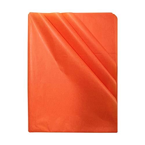 CUNYA - Hojas de papel de seda de color naranja, 40 hojas de papel de embalaje para envolver bodas, fiestas de cumpleaños, manualidades, manualidades, Navidad, 50 x 70 cm por hoja