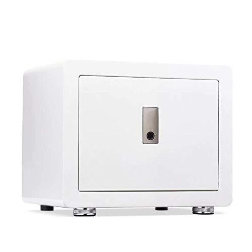 GGDJFN Safes,Anti-Theft Fingerprint Unlock Cash Safety Box,Small Smart Home Appliances Cabinet Safes For ID Papers, A4 Documents, Laptop Computers, Jewels (Color : White, Size : 38 * 28.5 * 31.8cm)