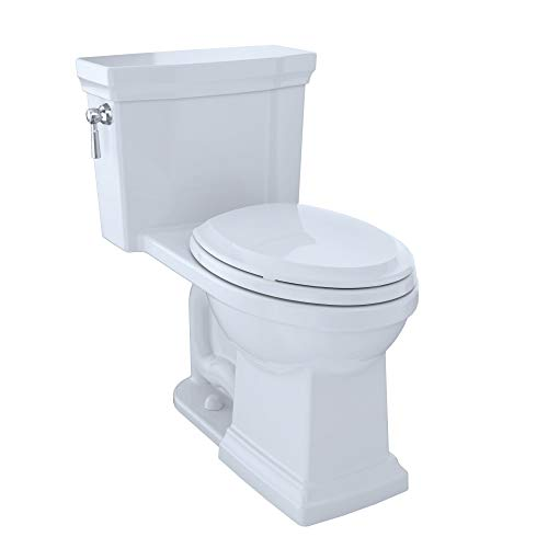 TOTO MS814224CUFG#01 Promenade II 1G One-Piece Elongated 1.0 GPF Universal Height Toilet with CeFiONtect, Cotton