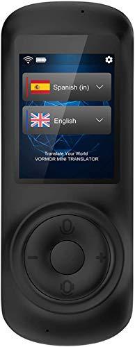 Mini Traductor Idiomas con Voz en Tiempo Real Traductor Instantaneos Electronico Traductor Simultaneo Admite 72 Idiomas para Aprendizaje, Viajes, Reuniones…