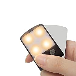 The smallest and the most lightweight book light with rechargeable battery and dimmable brightness