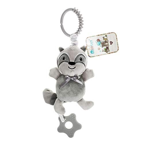 Toyvian 1Pc Bebê Carrinho Carrinho de Bebê Brinquedos Música Mordedor Brinquedo Desenho Animal Mordedor Brinquedo Chocalhos Agitador para Criança Infantil