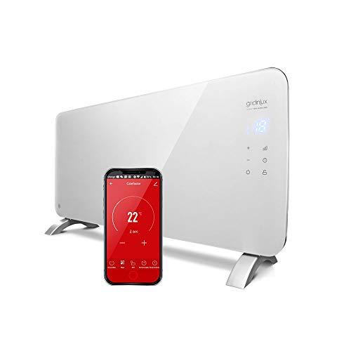 gridinlux. Homely WiFi Warm 2000W. Radiador Cristal Eléctrico, Calefacción Termostato, Convector Calor, WiFi, App, Silencioso, Apto para baños.