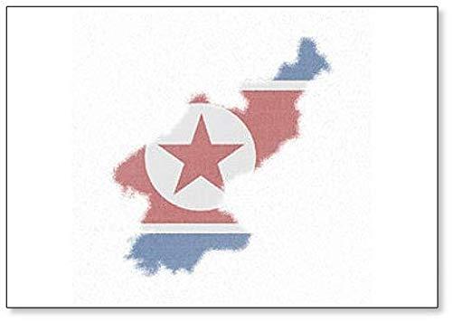 Kaart van Noord-Korea. Mozaïek Stijl Kaart met Vlag van Noord-Korea Koelkast Magneet