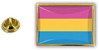 Akachafactory Spilla Pin pin's Spille Bandiera LGBT Arcobaleno pansessualita pansessuale