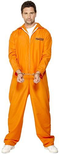 Smiffys Herren Entflohener Häftling Kostüm, Overall, Größe: L, 29535