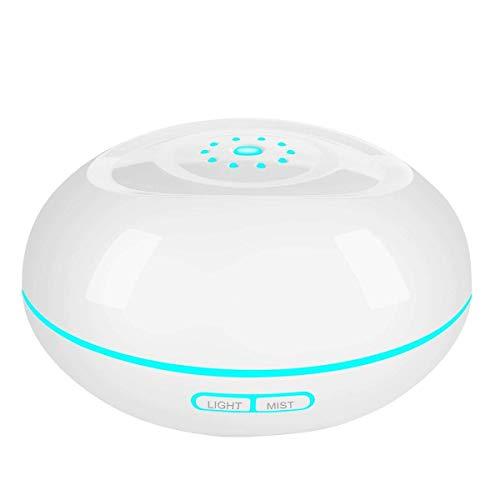 Mist Aromadiffuser, ultrasone luchtbevochtiger met 7 kleuren leds cool mist met automatische uitschakeling zonder water wit