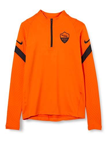 NIKE Roma YNK Dry Strke Dril Top Cl Long Sleeved t-Shirt, Unisex niños, Safety Orange/Black/Black no sponsor-3rd, M