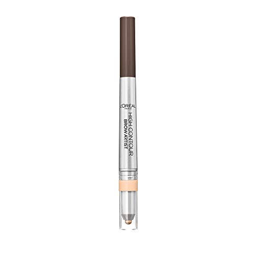 L Oréal Paris Matita Sopracciglia Automatica High Definer 2 in 1, Tratto Automatico con Illuminante, 108 Warm Brown