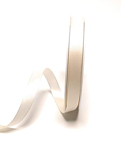 Konrad Arnold Dekoband 50m x 15mm Creme - Elfenbein Taftband Geschenkband Schleifenband