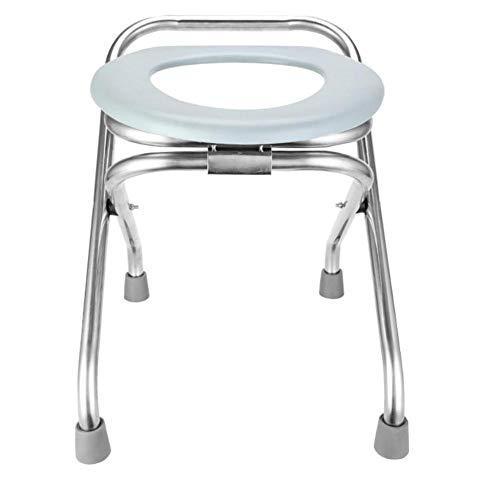 Toilettenstuhl Klappbar, Tragbarer Toilettensitz Bequemer Kommodenstuhl Perfekt Für Camping-Wanderungen