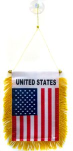 AZ FLAG Wimpel USA VEREINIGTE Staaten 15x10cm - VEREINIGTEN Staaten VON Amerika Mini Flagge 10 x 15 cm - Auto Pennant spezielle Auto