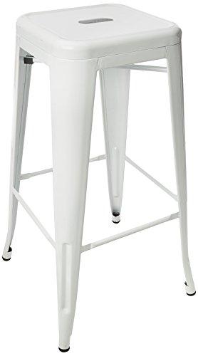 Kit Closet Blanco sillas y taburetes Industrial de Color, Metal, 76x43x43